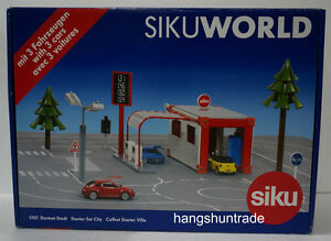 Siku World 5501 VW The Beetle Mercedes Benz SLS AMG Mini Cooper Starter Set City