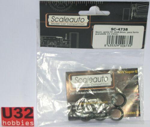 SCALEAUTO SC-4738 NEUMATICO RT SLICK 16.8x8.8mm PARA LLANTA ACANALADA 14-15mm