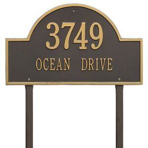 Whitehall-Products-Arch-Marker-House-Plaque-Address-Number-Estate-Size-Lawn