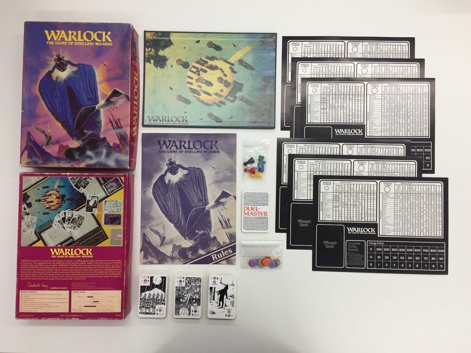Brujo el Juego de Duelo Magos Tienda Juegos Vintage Tablero Completo 1980