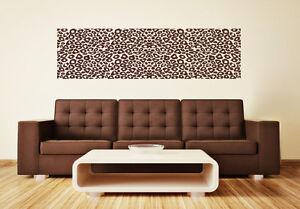 Leo-Muster-Borduere-Leopard-Meterware-Wohnzimmer-Afrika-Wandaufkleber-WandTattoo