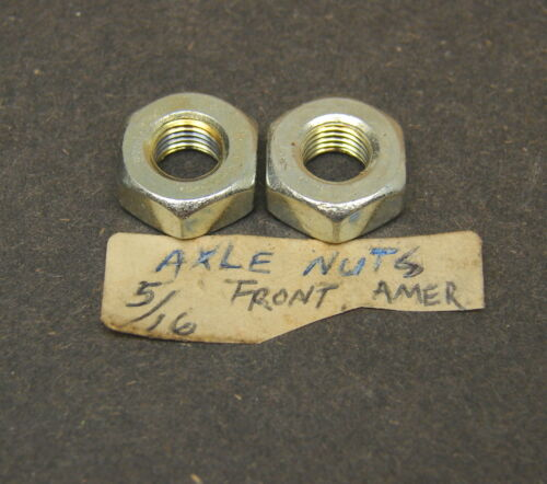 Quantity of 2 American Vintage New NOS Bicycle Front Axle Nuts 5//16