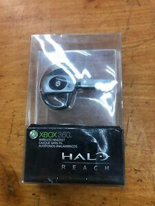 BRAND-NEW-Official-Microsoft-Xbox-360-HALO-Reach-Edition-Wireless-Headset-Silver