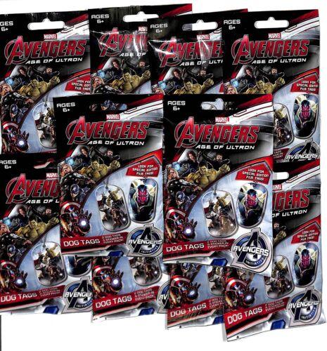 2015 Marvel Avengers Age of Ultron 10 Scellé Dog Tag Packs