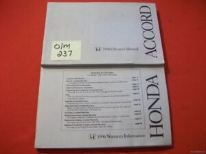 1996 honda accord original factory owner s manual warranty booklet rh ebay co uk honda accord 1996 service manual pdf 1996 honda accord ex owners manual
