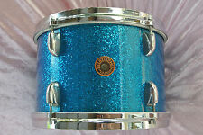 "RARE 1960's GRETSCH 12"" BLUE SPARKLE TOM for YOUR PROGRESSIVE JAZZ DRUM SET T871"