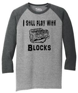 I Still Play With Blocks Sweatshirt Funny Car Mechanic Engine