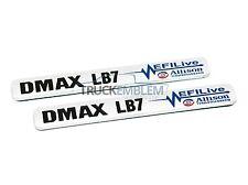 "2 New Chrome & BLACK Duramax Diesel ""DMAX LB7"" Allison EFILIVE 2500 3500 Badges"