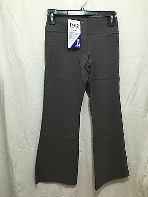 BNWT Girls Sz 4 Grey Stretch Bootleg LW Reid Brand School Uniform Long Pants