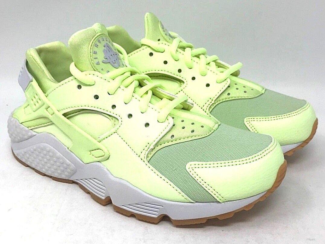 Nike Wmns Wmns Wmns Air Huarache Run SIZE 7 Barely Volt Gum Yellow-White 9c5ea2