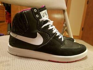 brand new 0b66c b0029 Image is loading Nike-SB-Paul-Rodriguez-7-High-Black-White-