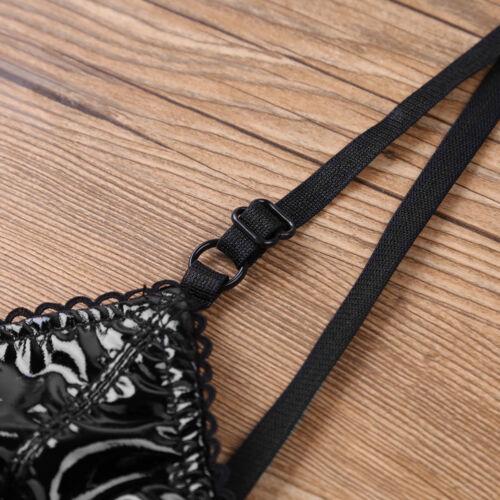 Women Faux Leather Bustier Bra Zipper Tube Top Vest Shirt Nightclub Dance Blouse