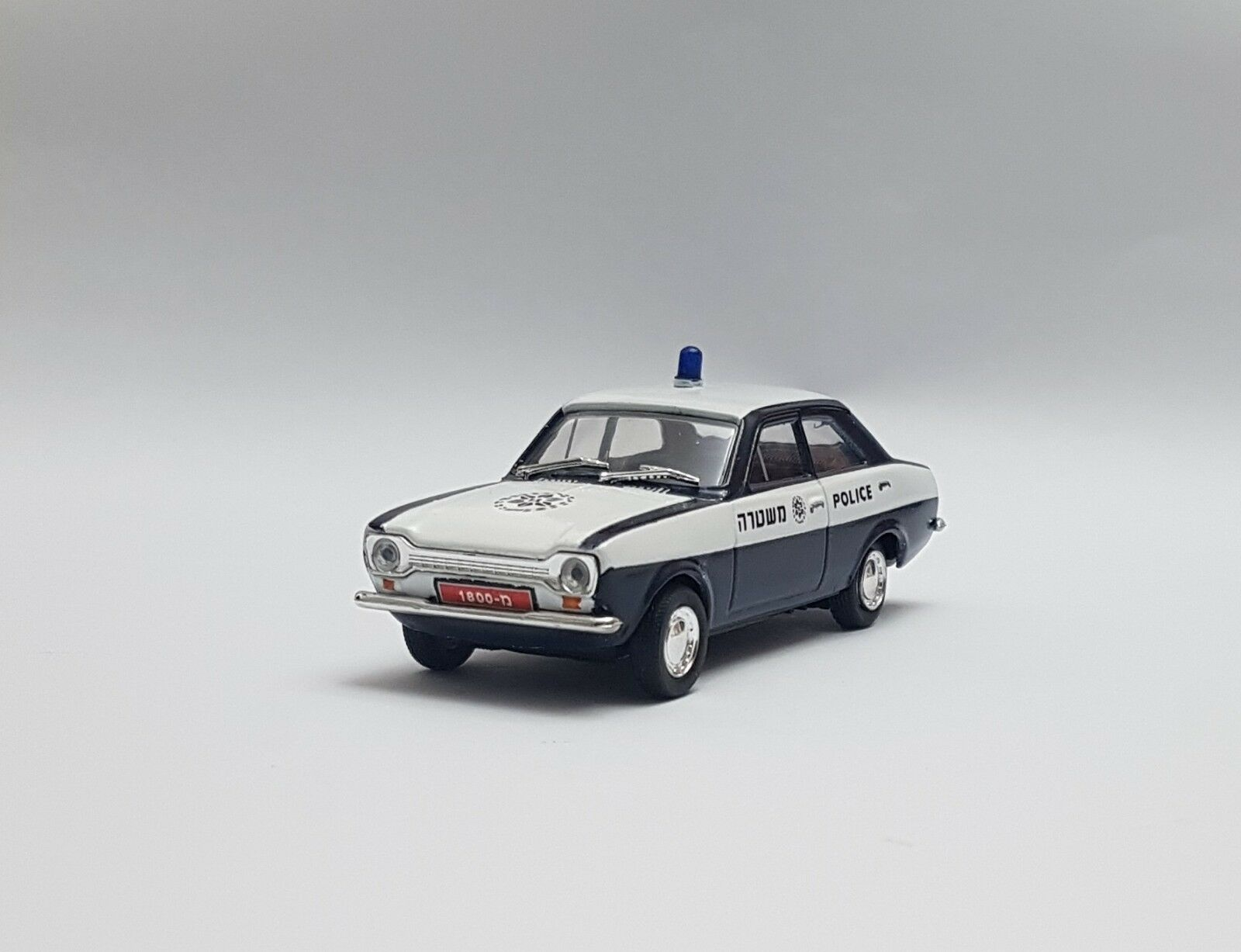 ;) RARE ISRAEL POLICE FORD ESCORT 1971 car MODEL SCALE 1 43 TOY BEST GIFT