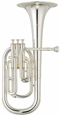 Musical Instruments & Gear Yamaha Alto Horn 3 Piston Eb Yah-203s Silver-plated From Japan Free Shipping