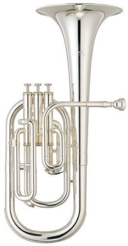 YAMAHA Alto Horn 3 Piston Eb YAH-203S Silver-Plated From Japan free shipping