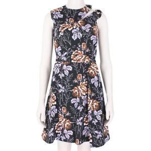 Victoria-Beckham-Black-Lilac-D-Ring-Rose-Dress-UK8-IT40
