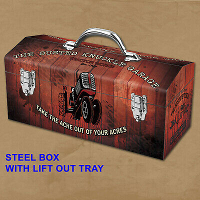 Portable Steel Farm Tractor Repair Mechanic Toolbox Busted ...