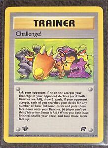 Pokemon CHALLENGE Card TEAM ROCKET Set 74//82 First Ed UNCOMMON 1st edition NM