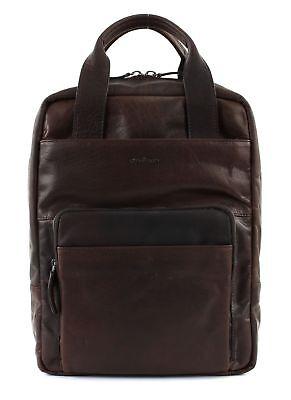 2019 Nuovo Stile Strellson Coleman 2.0 Backpack Lvz Zaino Borsa Per Laptop Borsa Dark Brown Marrone- Prezzo Di Vendita Diretto In Fabbrica