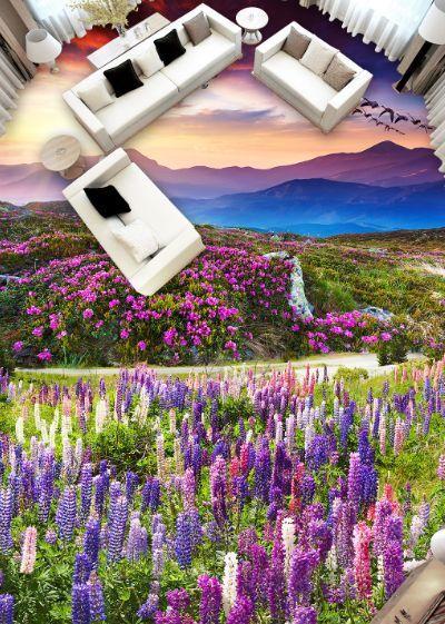 3D lila Haus 36989 Fototapeten Wandbild Fototapete BildTapete Familie DE
