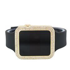 Touch Screen Square Icy Bezel Techno Pave Gold Black Lab Diamond Design