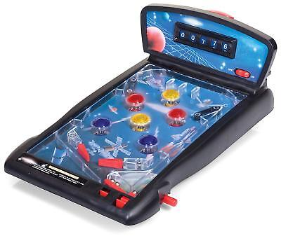 CHILDRENS KIDS ELECTRONIC TABLE TOP PINBALL TOY GAME MACHINE SUPER GIFT
