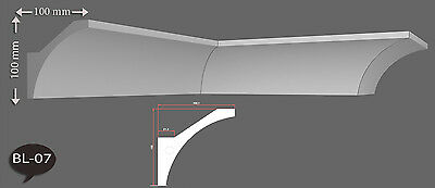 MUSTER Led Leiste indirekte Beleuchtung Styropor Leiste Lichtprofil LED BL 17