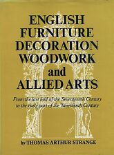 Antique English Furniture Woodwork - Period Design Elements / Scarce Book