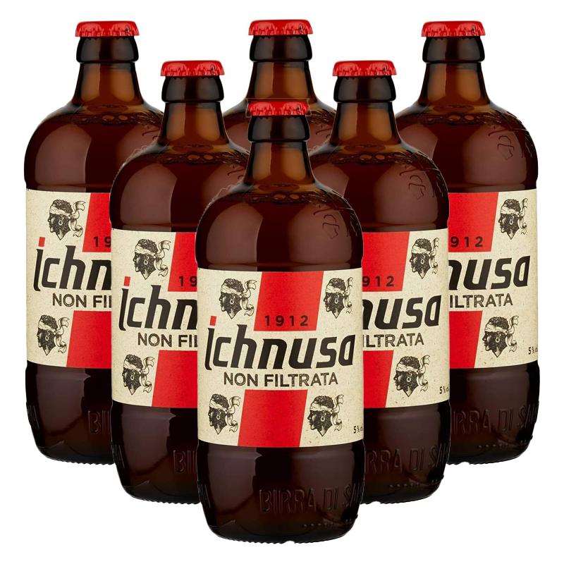Service Set 6 Gläser Bier Ichnusa Blondine Ohne Gefiltert Sardinien 20 CL 6 St