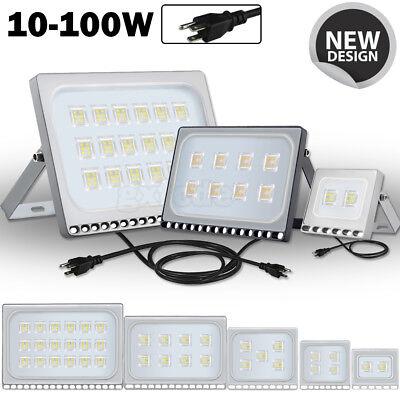 LED Floodlight 100W 50W 30W 20W10W Ultra Thin Led Flood Light Spotlight Outdoor