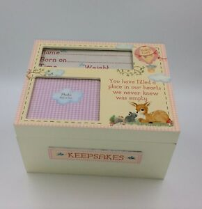 Details About Handmade Wooden Baby Girl Keepsake Memory Box Christening Gift Ideas For Babies