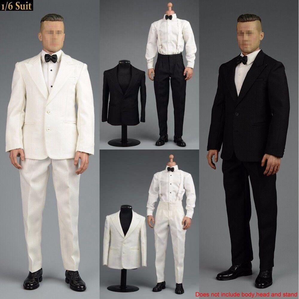 1 6 Scale Retro Gentleman Suit Fashion Design Clothes Fit 12  Male Action Figure