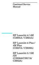 HP LaserJet 4/4M/4+/4M+/5/5M/5N Laser Printer - Service M./Parts & Diagrams PDF
