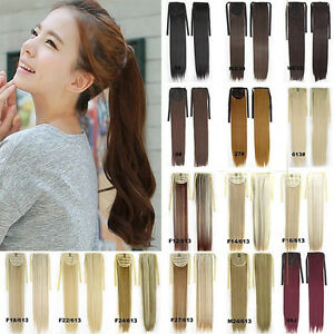 Uk new long various colors ponytail clip in hair extensions long image is loading uk new long various colors ponytail clip in pmusecretfo Choice Image