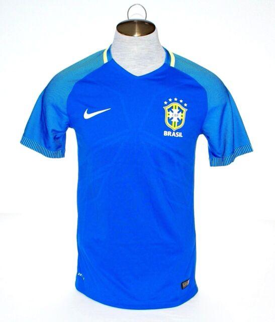 cfcec78d6 Nike Dri Fit CBF Brasil Blue Away Vapor Match Soccer Jersey Brazil Men s NWT