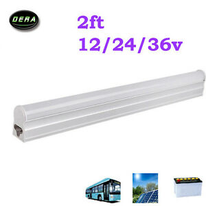 8w 2ft T5 Led Fluorescent Replacement Tubes Solar Light Bulb Dc 12v 24v 600mm Ebay