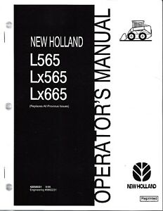 Details about New Holland L565 Lx565 Lx665 Skid Loader Operator's Manual  42056531