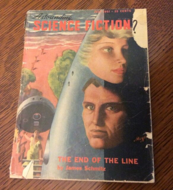 Astounding Science Fiction, July 1951, deCamp, Jack Williamson, Dickson, Schmitz