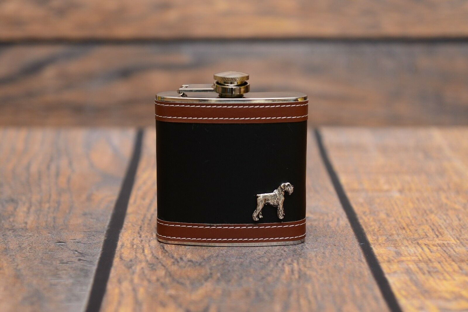 Schnauzer - flask with image of a dog, high quality, Art Dog