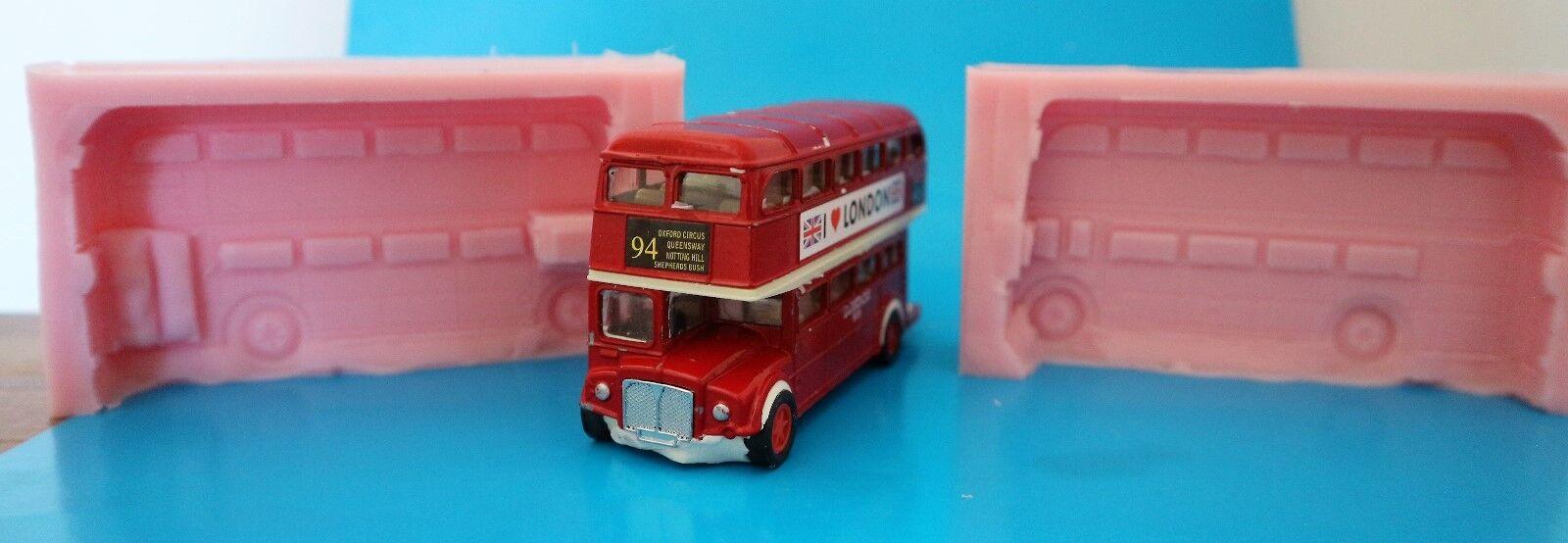 London Bus 3D Silikonform für Kuchendekoration, Schokolade, Ton Usw