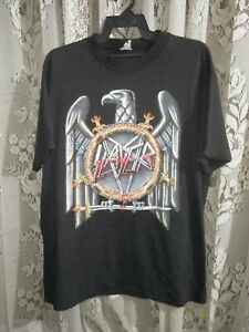 Vintage 1990 Slayer Seasons In The Abyss Tour T-Shirt