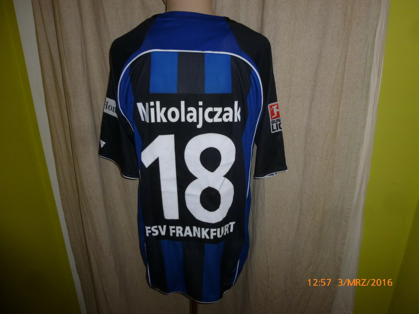 FSV Jako Frankfurt Jako FSV Matchworn Trikot 2008/09