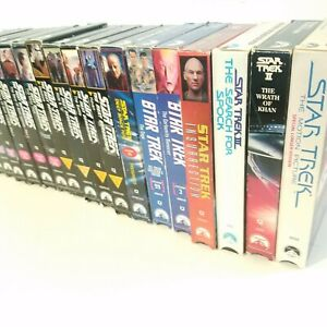 VHS-Star-Trek-Tapes-Lot-Of-17-Wrath-Of-Khan-Search-For-Spock-Next-Generation