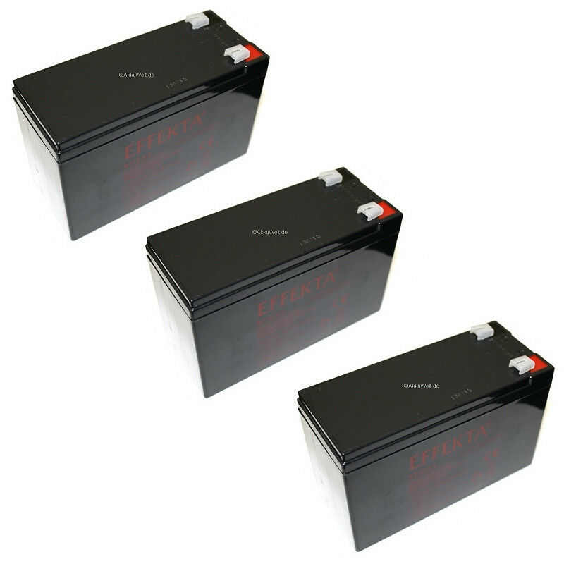3x 12V 9,5Ah 36V Akku Tante Paula Scooter Elektro Roller Batterie Bleigel Accu