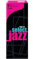 1 Box Of 5 Rico Select Jazz Reeds Baritone Bari Sax/saxophone 2-soft (2s) Filed