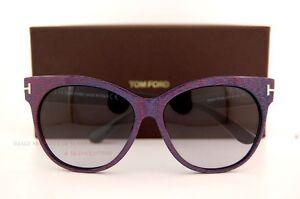 8b88c02c107 Brand New Tom Ford Sunglasses TF 330 Saskia 82B Blue Purple For ...