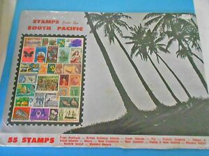 VINTAGE-STAMPS-FROM-THE-SOUTH-PACIFIC-55-STAMPS-IN-ORIGINAL-PACKET