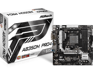 Asrock-AB350M-Pro4-Matx-Motherboard-fuer-Amd-AM4-Cpus