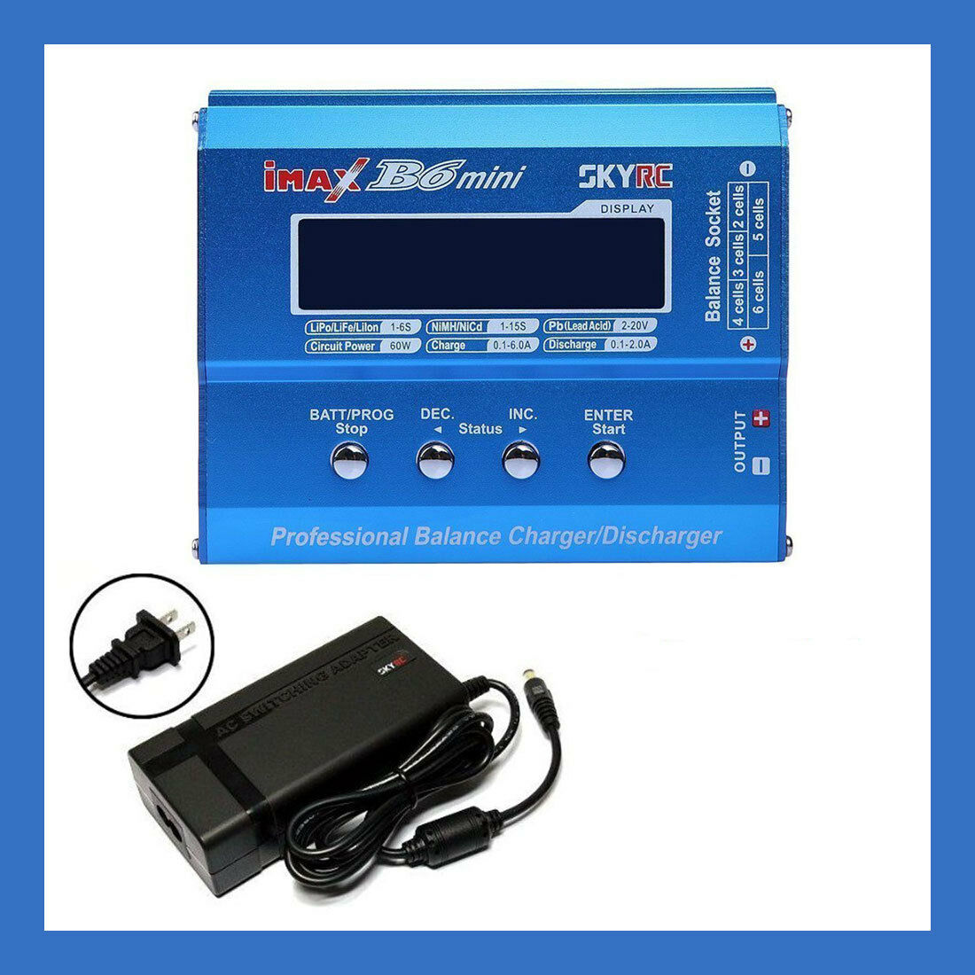SKYRC iMAX B6 Mini 1-6 cell Li-Po Battery Balance Charger - w/ OEM AC Adapter