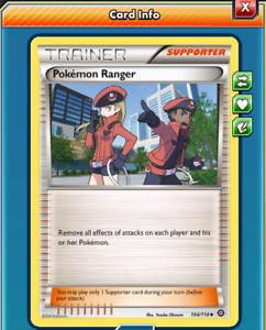 DIGITAL CARD Trainer Supporter Pokemon TCG x4 Pokemon Ranger
